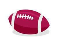 American Football. Red Soccer Ball. Sport Game. Red soccer ball. American football. Sport team game. American football sign. American football sign. Sportsman Royalty Free Stock Image