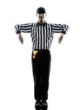 American football referee gestures illegal shift silhouette Stock Photo