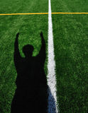 American Football Referee Signaling Touchdown Stock Images