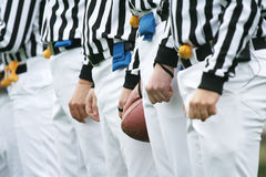 American football Referees. American football referee holding ball. American football concept Stock Photos
