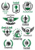 American football retro symbols for sport design Royalty Free Stock Image