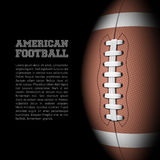 American football with room for text Stock Image