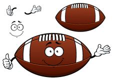 American football or rugby ball cartoon character Stock Photos