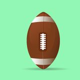 American football rugby ball icon flat vector Stock Photos