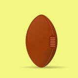 American football rugby ball icon flat vector Royalty Free Stock Image