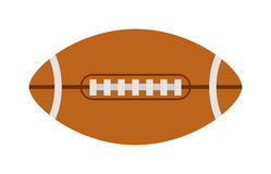 American football rugby ball vector illustration. Royalty Free Stock Photography