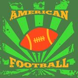 American football rugby poster Stock Images