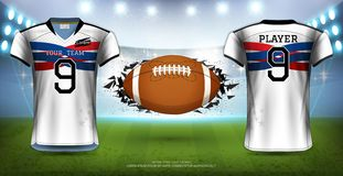 American Football, Rugby or Soccer Jerseys Uniforms.