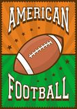 American Football Rugby Sport Retro Pop Art Poster Signage. E vector Stock Images