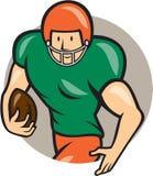 American Football Running Back Circle Cartoon Stock Photos