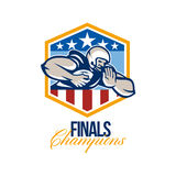 American Football Running Back Finals Champions Royalty Free Stock Image