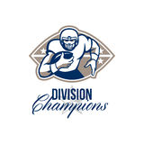 American Football Runningback Division Champions Royalty Free Stock Photos