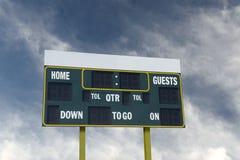 American Football Scoreboard Stock Photos
