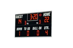 American football scoreboard. Isolated on white background Royalty Free Stock Photography