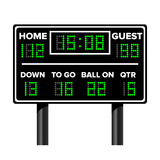 American Football Scoreboard. Sport Game Score. Digital LED Dots. Vector Illustration. Time, Guest, Home. Stock Images