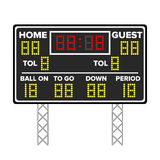 American Football Scoreboard. Sport Game Score. Digital LED Dots. Vector Illustration. Time, Guest, Home. Royalty Free Stock Photography