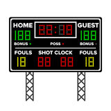 American Football Scoreboard. Time, Guest, Home. Electronic Wireless Scoreboard Timer. Vector Illustration Royalty Free Stock Images