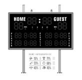 American Football Scoreboard With Infographics Stock Images