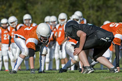 American Football scrimage Stock Images