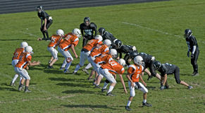 American Football Scrimage Line Royalty Free Stock Photos