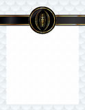 American Football Seal and Letterhead Illustration Stock Photo