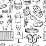 American Football Seamlees pattern Royalty Free Stock Photo