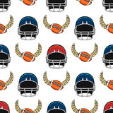American football seamless pattern. With equipment elements. Sport background vector illustration Royalty Free Stock Photography