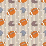 American football seamless pattern Stock Photos