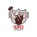 American Football Series Finals Retro Stock Image