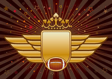 American football and shield Royalty Free Stock Photography