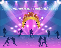 American Football Shield Vector Design Stock Photo