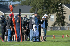 American football sideline Royalty Free Stock Image