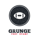 American football sign icon. Team sport game. Royalty Free Stock Photo