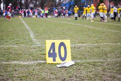 American football - sign stock photography