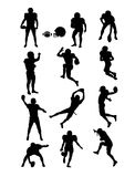 American Football Silhouettes. Art vector design Stock Image