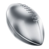 American football in silver. 3d rendering of an american football in silver Stock Images