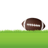 American Football Sitting on Grass Illustration Royalty Free Stock Image