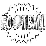 American football sketch Royalty Free Stock Photo