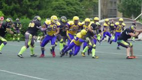 American football. Slow motion.  Tournament stock video