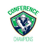 American Football Snap Conference Champions Stock Photo