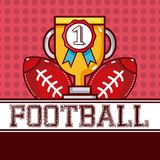 American football sport. American football trophy cup vector illustration graphic design Royalty Free Stock Photo