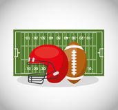 American football sport emblem icon Royalty Free Stock Photography