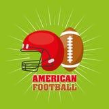 American football sport emblem icon Stock Photos