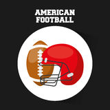 American football sport emblem icon Royalty Free Stock Photos