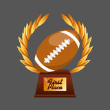 American football sport emblem icon Stock Images