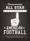 American Football sport game Royalty Free Stock Images
