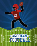 American Football sport game. Graphic design,  illustration Royalty Free Stock Images