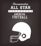 American Football sport game Royalty Free Stock Image