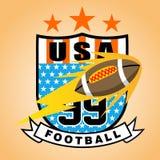Sport logo. American football sport logo, vector cartoon. EPS 10 Stock Image