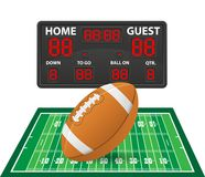 American football sports digital scoreboard vector illustration Royalty Free Stock Photography